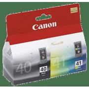 ~Brand New Original CANON PG40 / CL41 INK / INKJET Cartridge Combo Black Tri-Color for Canon ImageFormula Scanner CR-135i