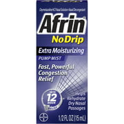 Afrin No Drip Pump Mist, Extra Moisturizing 15 mL (Pack of 11)