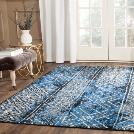"Safavieh Adirondack 2'6"" X 10' Power Loomed Rug in Silver and Black - image 1 de 3"