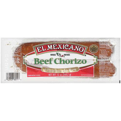 El Mexicano Beef Chorizo, 12 Oz.