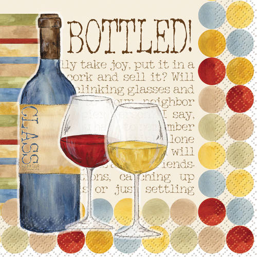 Bottled Joy Cocktail Napkins, 24-Count by Unique Industries