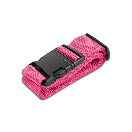 HeroFiber Pink Luggage Belts Suitcase Straps Adjustable and Durable, Travel Case Accessories, 1 Pack