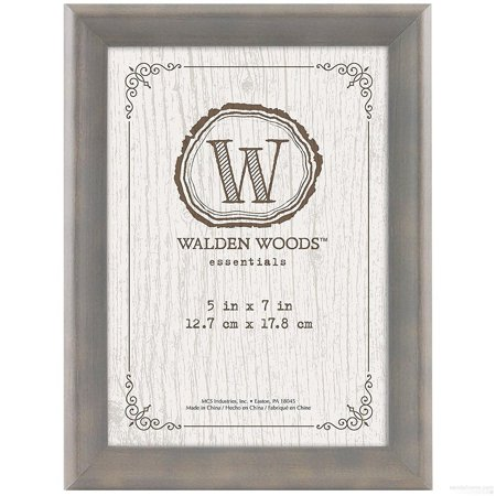 WALDEN WOODS ESSENTIALS Weathered-Gray desk frame from MCS ()