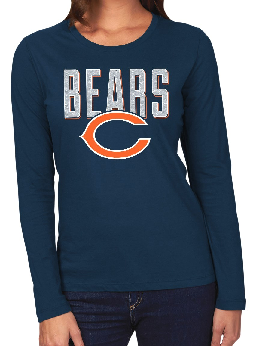 "Chicago Bears Women's Majestic NFL ""Advantage"" Long Sleeve T-shirt by Majestic"