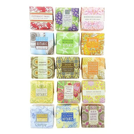 Soap Sampler Assorted 15 (1.9 oz Bar) Pack Set Made by Greenwich Bay Trading Company (Imperial Trading Company)