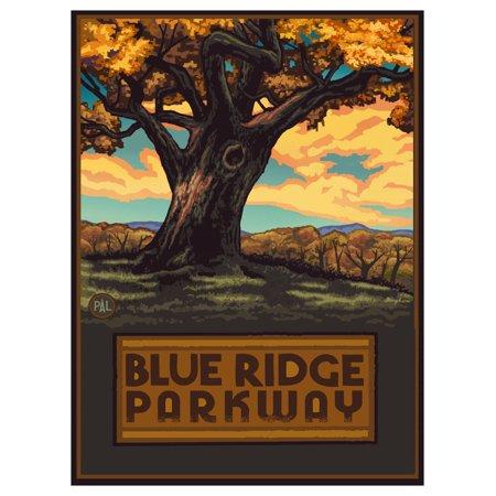 - Blue Ridge Parkway Big Oak Tree Travel Art Print Poster by Paul A. Lanquist (9