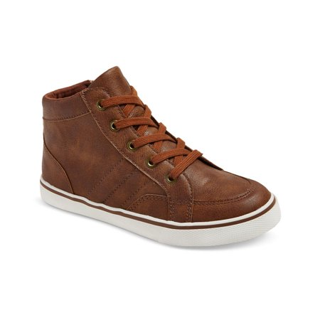Cat & Jack Boys Florian Mid Top Leather Sneaker (Best Site For Men's Shoes)