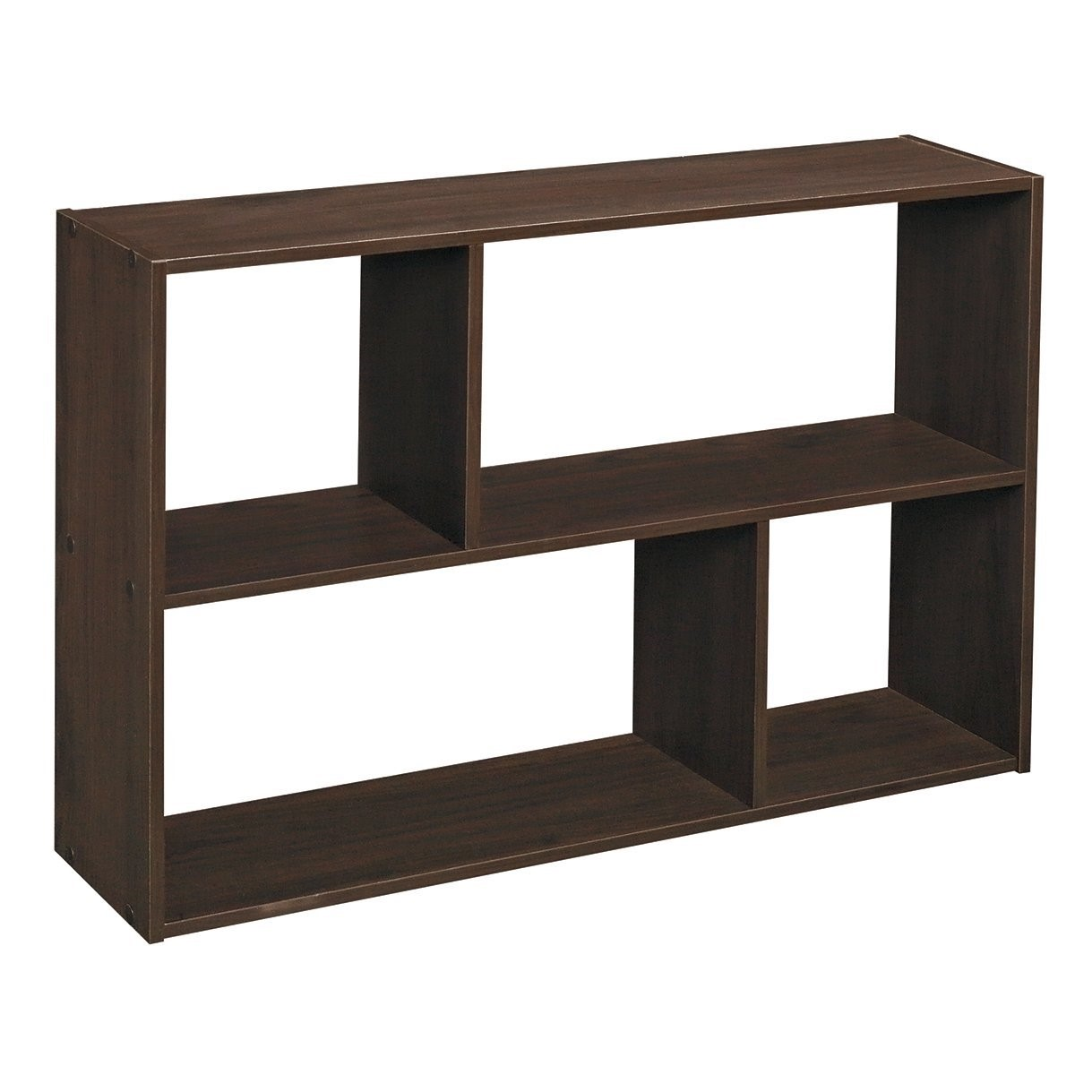 ClosetMaid Cubeicals Mini Off-Set Cube Organizer, Espresso