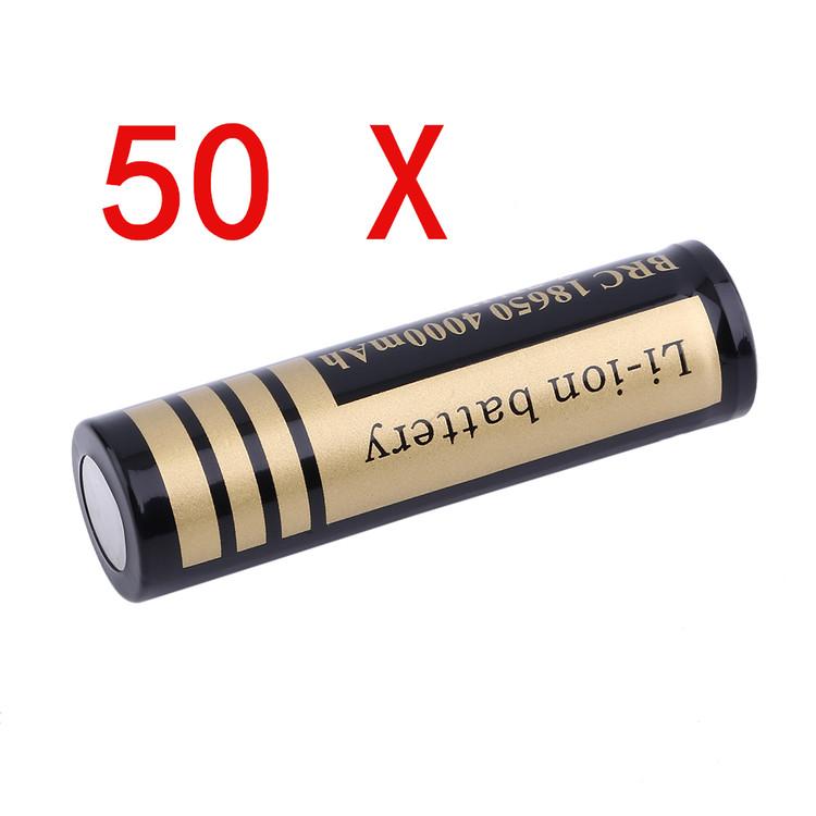 50 Pcs 18650 3.7V 4000MHA Environmental Rechargeable Li-I...
