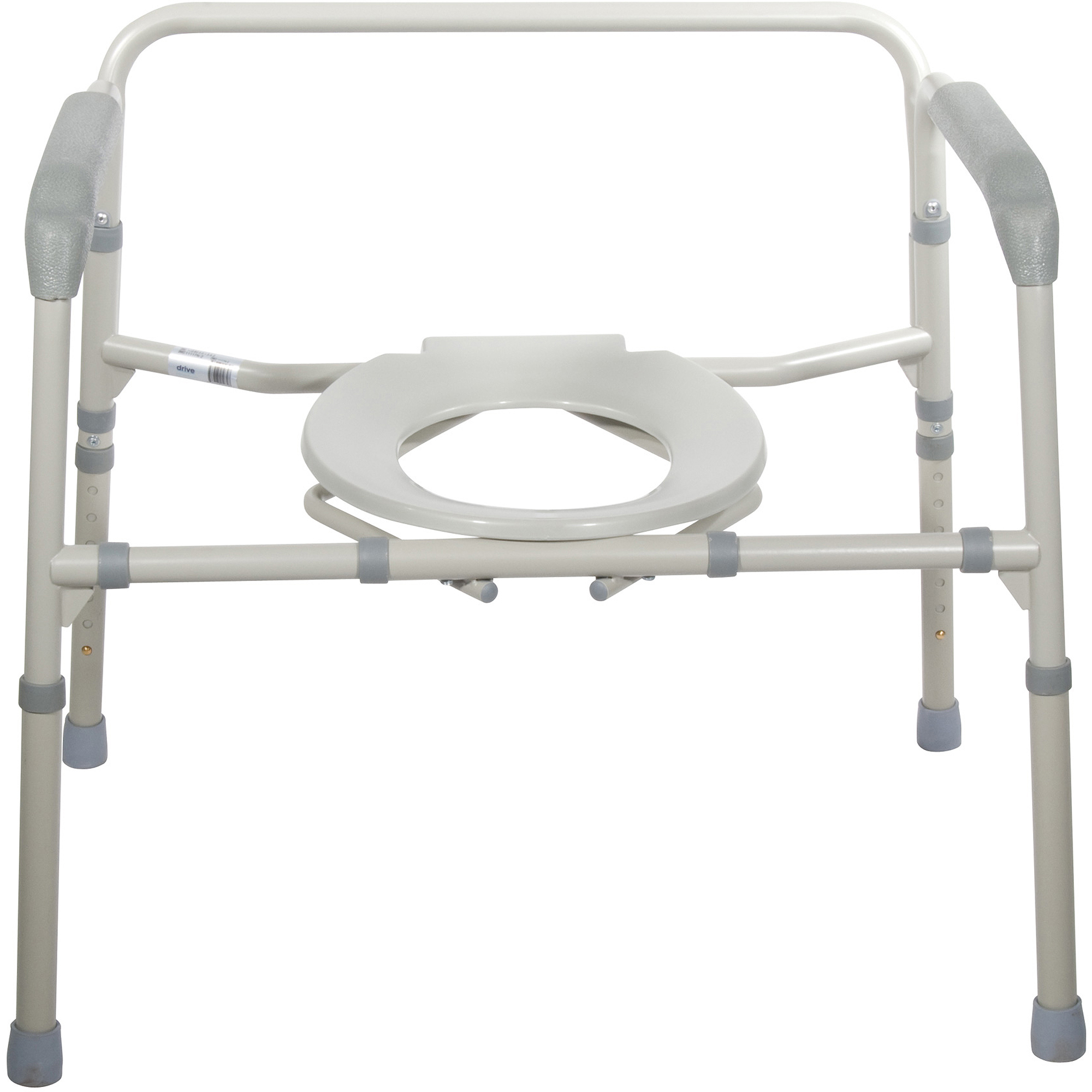 Drive Medical Heavy Duty Bariatric Folding Bedside Commode Seat ...