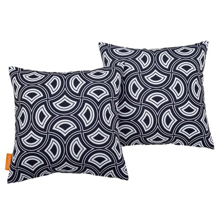 Modern Contemporary Urban Design Outdoor Patio Balcony Garden Furniture Pillow Throw, Set of Two, Fabric, Multi Colorful ()