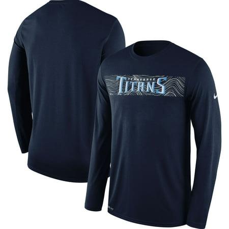 69adb6d9 Tennessee Titans Nike Sideline Seismic Legend Long Sleeve T-Shirt - Navy -  Walmart.com