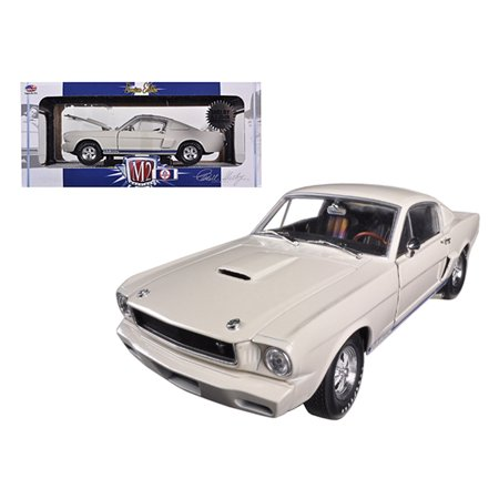 1965 Ford Mustang Specs - 1965 Ford Shelby Mustang GT350R Prototype Wimbledon White 1/24 Diecast Car Model by M2 Machines