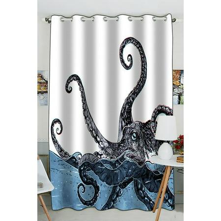 gckg creative octopus window curtain kitchen curtain