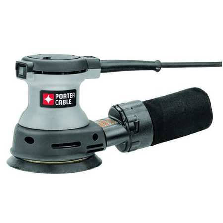 PORTER CABLE 382 Sander, Palm Grip, 1.9 Amps, 5 In Hook/Loop