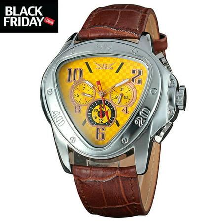 9ddd0198a3 YISUYA - Brown Leather Strap Analog Military WristWatches for Boy ...
