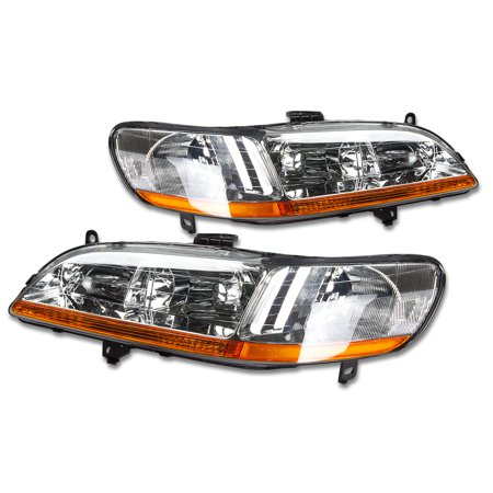 For 1998 to 2002 Honda Accord OE Style Headlight Chrome Housing Amber Corner Headlamp 99 00 01 - Honda Passport Headlight Headlamp