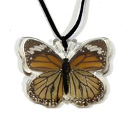 Company BTN110 Real Bug Common Tiger Butterfly Necklace