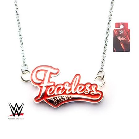 Wwe Wwenkynk01 Womens Fearless Nikki Stainless Steel Pendant  44  18 With 2 In  Extender Chain
