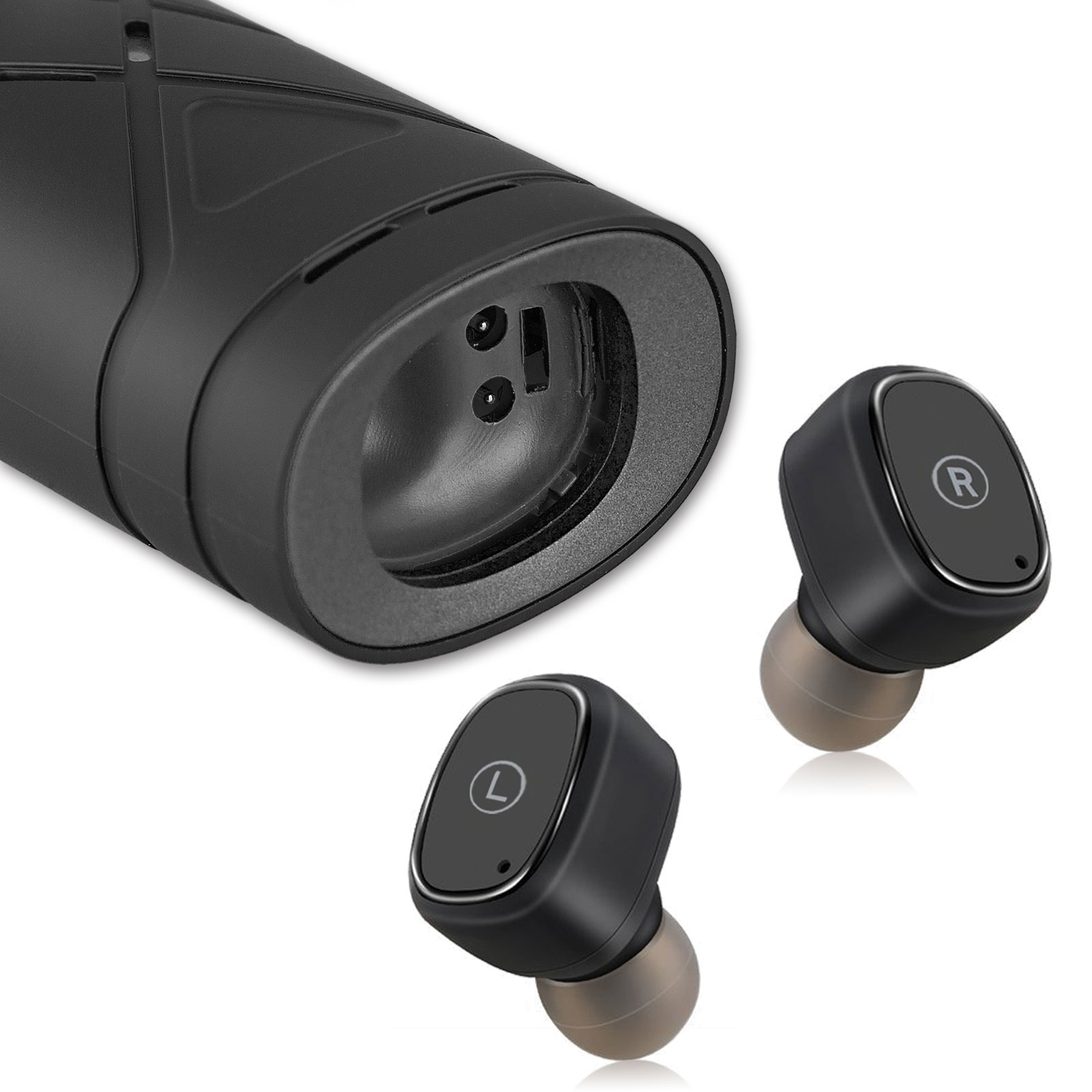 Mini Bluetooth Wireless Earbuds w/ Mic True Bass Twins Stereo In-Ear Earphone