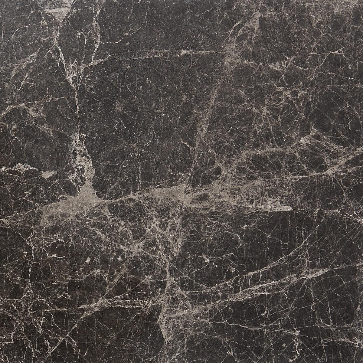 Marbletiledirect Emperador Dark Polished Bevelled Marble 12-inch x 24-inch x 1/2-inch Tiles (Case of 5 Tiles)