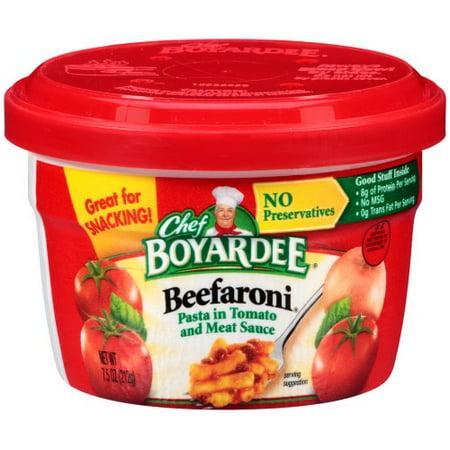 Chefs Healthy Pasta - Chef Boyardee Beefaroni Pasta in Tomato and Meat Sauce