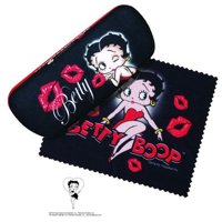 Bettie Boop Kisses Hard Eyeglass Case and Cleaning Cloth