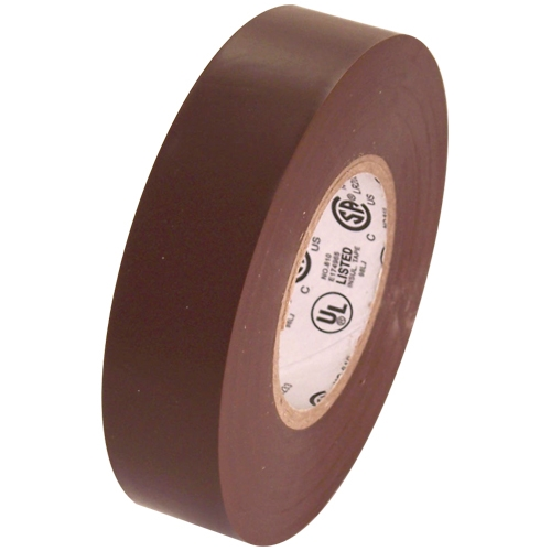 """Brown Electrical Tape 3/4"""" x 66 ft Roll 7 mil"""