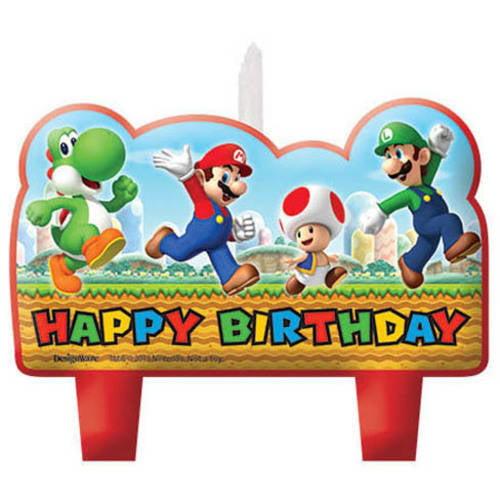 Super Mario Brothers Birthday Candle Set Walmartcom