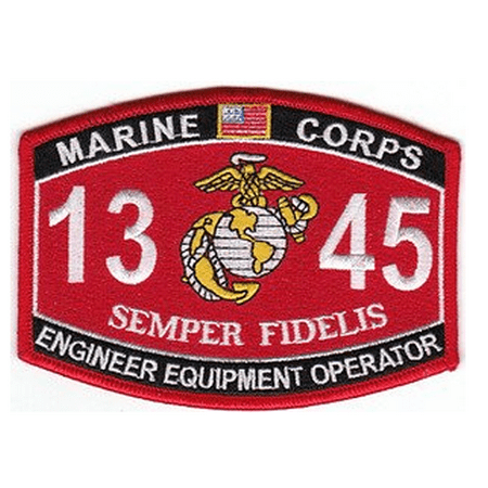 Marine Corps Combat Engineer - MARINE CORPS 1345 COMBAT ENGINEER EQUIPMENT OPERATOR MOS SEMPER FIDELIS PATCH