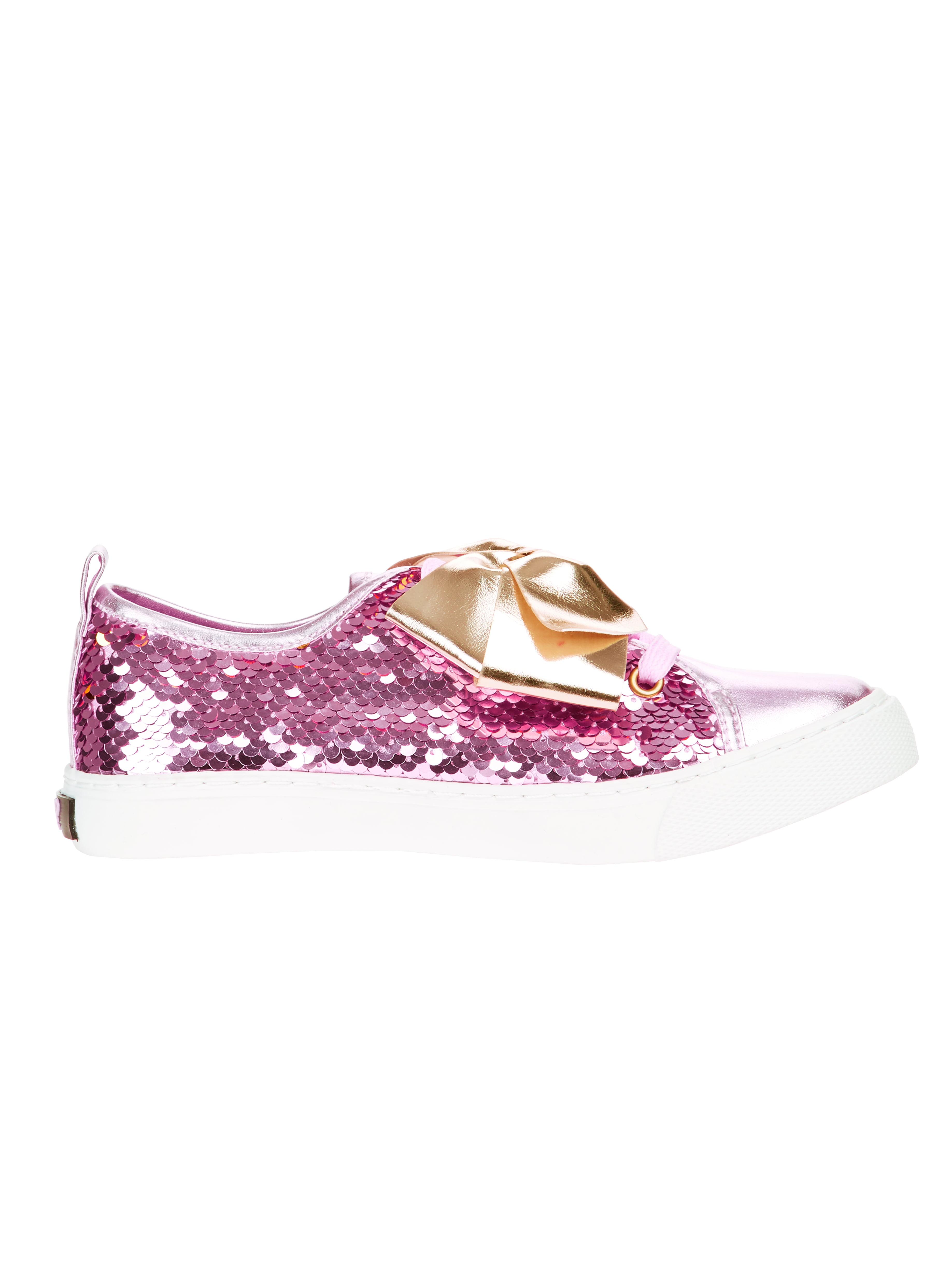 Jojo Siwa Girls' Reverse Sequins Low Top Sneaker