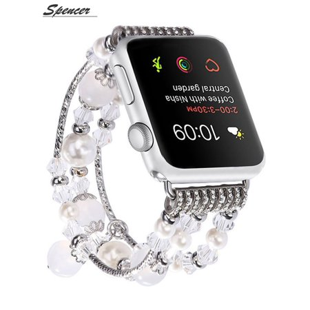 2881865d9 Spencer - Spencer Apple Watch Band ,Fashion Elastic Stretch iwatch Strap  Replacement iWatch Band Agate Stone Bracelet for Apple Watch Series 4/3/2/1  42mm ...