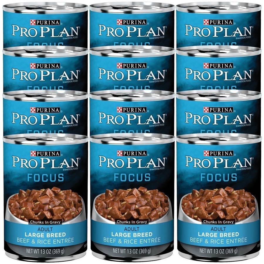 Purina Pro Plan Adult Dog Large Breed Beef & Rice, 12 x 13oz
