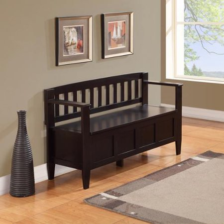 WyndenHall  Riverside Solid Wood 48 inch Wide Contemporary Entryway Storage Bench - 20 inch (Riverside Stores)