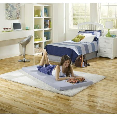 Simmons Beautysleep Siesta Single Memory Foam Guest Roll-Up Extra Portable Mattress Bed Simmons Memory Foam Mattress