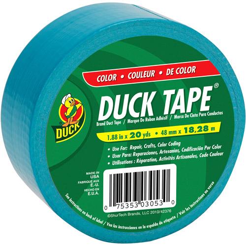 "Duck Brand Duct Tape, 1.88"" x 20 yard, Aqua"