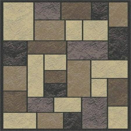 Art Carpet Woven Area Rug, Neutral Patchwork