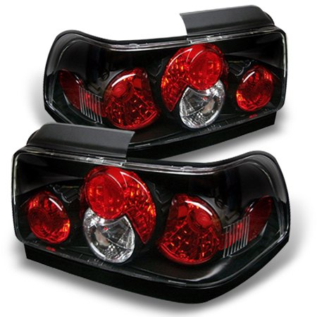 Fits 93-97 Toyota Corolla Black Altezza Tail Brake Lights Lamps Pair Left+Right 05 Toyota Corolla Tail Lights