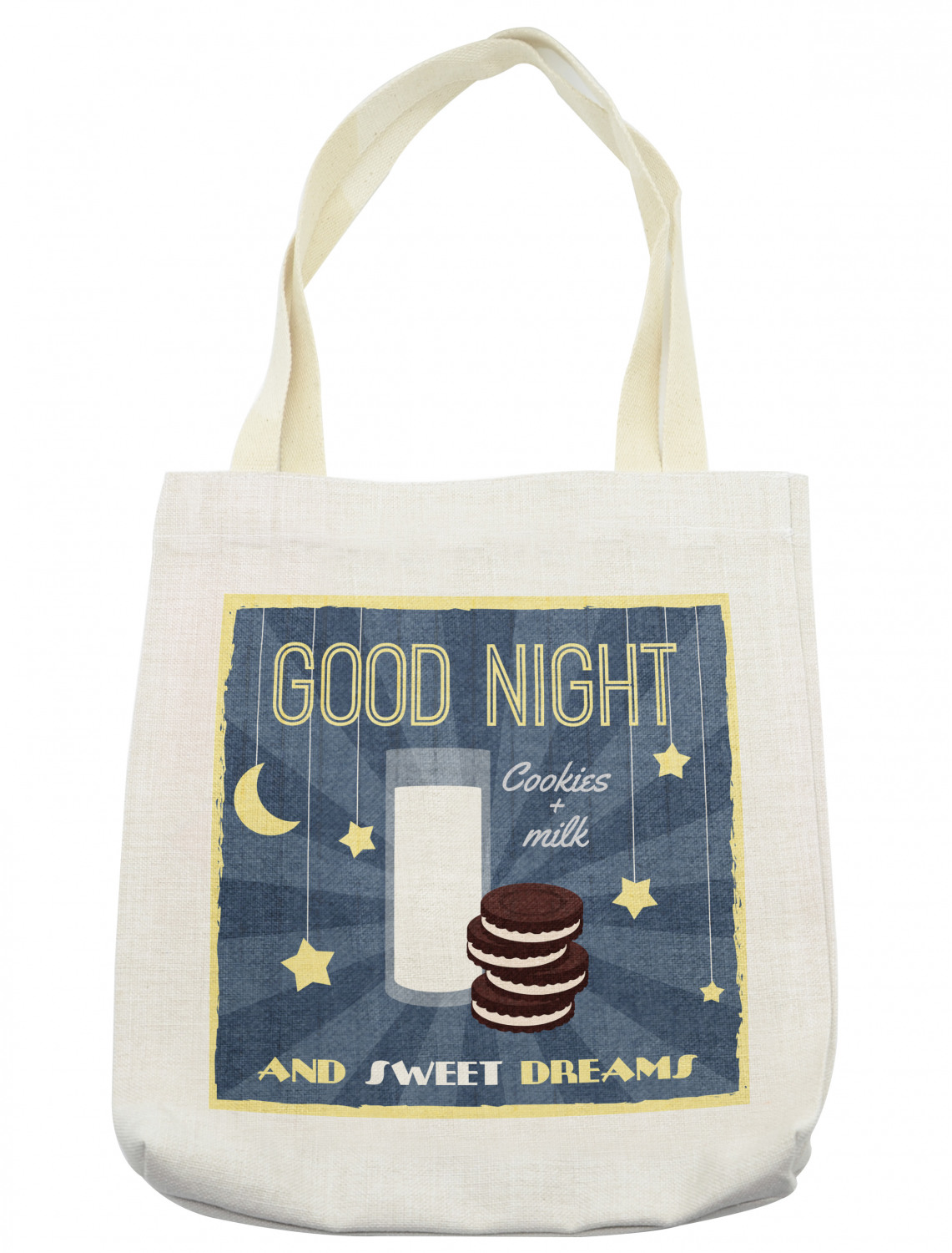 Love Cookies and Milk Reusable Grocery  Shopping Bag  Tote