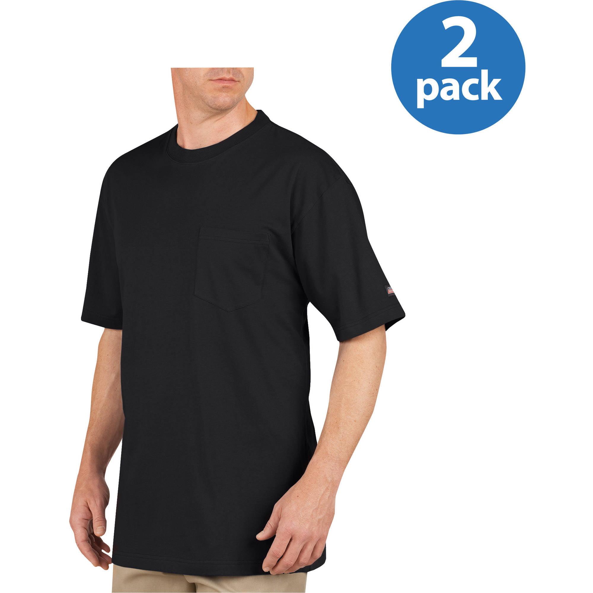 Black t shirt pack - Genuine Dickies 407 Heavy Weight Short Sleeve Pocket Tees 2 Pack Walmart Com