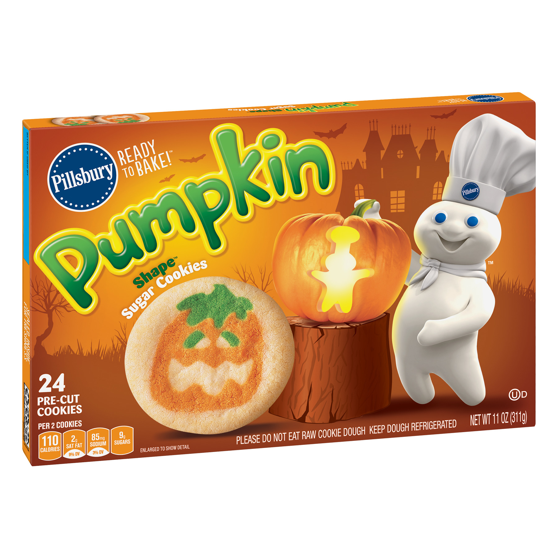 Pillsbury Ready to Bake ™ Pumpkin Shape™ Sugar Cookies Walmart
