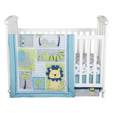 Jungle Roar 4 Piece Crib Bedding Set by Trend Lab ()