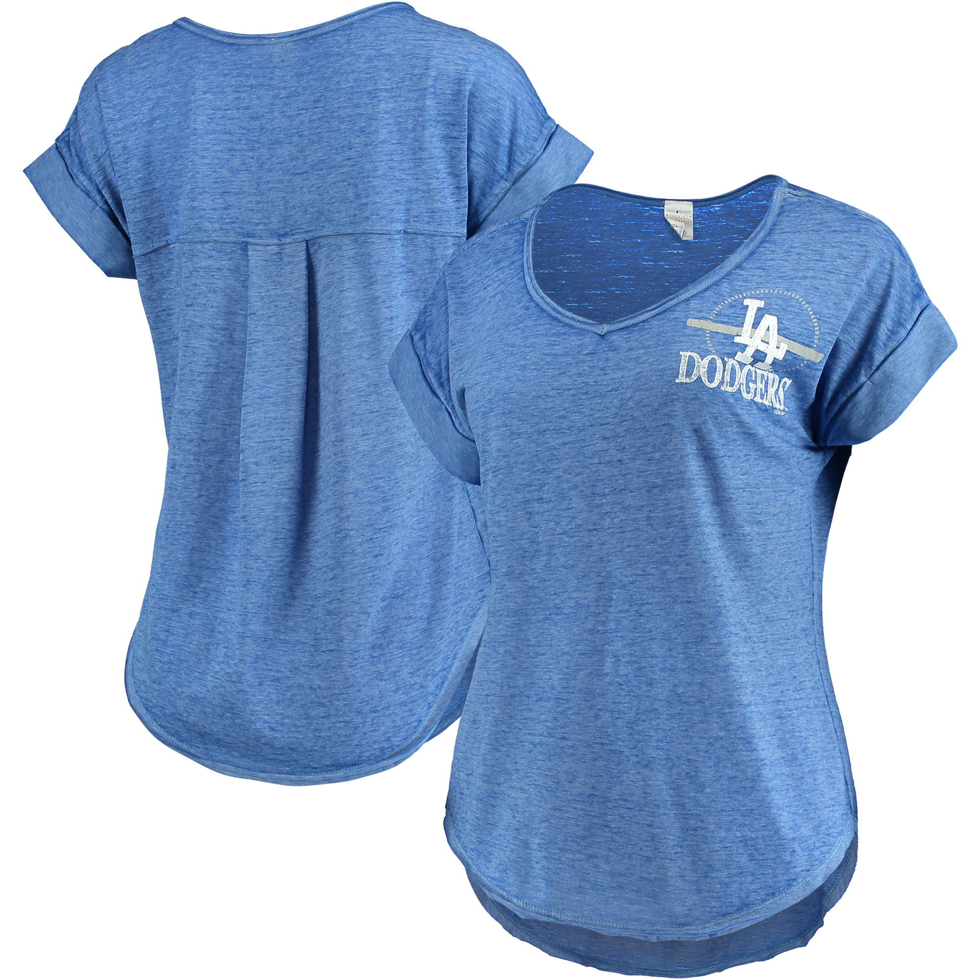 Women's Concepts Sport Heathered Royal Los Angeles Dodgers Crosspoint T-Shirt