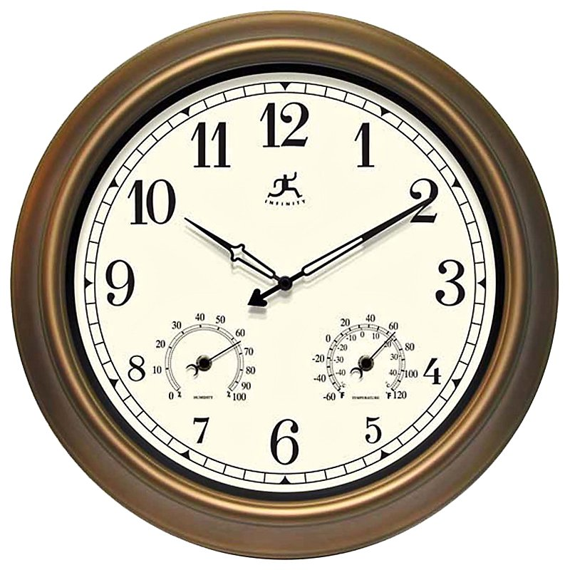 Infinity Instruments: The Craftsman 18 in. Outdoor Wall Clocks