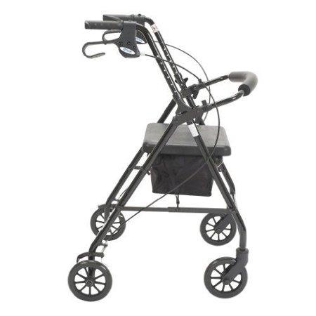 Drive 4 Wheel Rollator  Black, Folding, Aluminum, 32 to 37 Inch, 20 Inch Seat Height, 1 (Best 4 Wheel Walker)