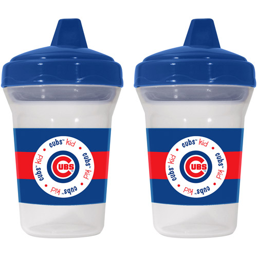 Baby Fanatic Chicago Cubs 2-Pack Sippy Cup, BPA-Free