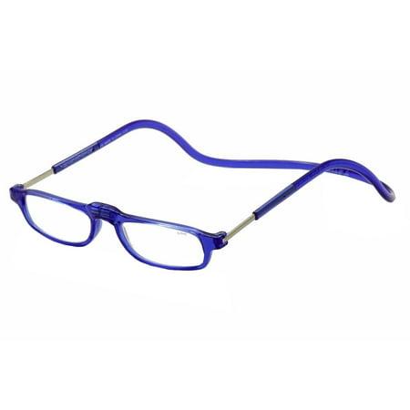 Clic Reader Eyegles City Readers Blue Full Rim Magnetic Reading Gles