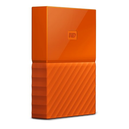 WD 4TB Orange My Passport Portable External Hard Drive - USB 3.0 - Model