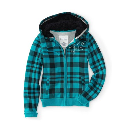 Aeropostale Juniors Aero New York Plaid Full-Zip Hoodie Sweatshirt 160 Xs - Juniors - image 1 of 1