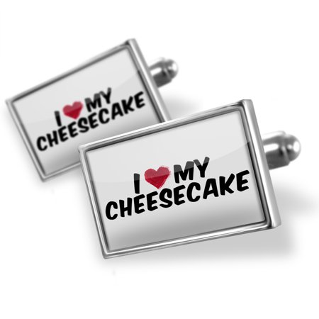 Cufflinks I Heart Love My Cheesecake   Neonblond